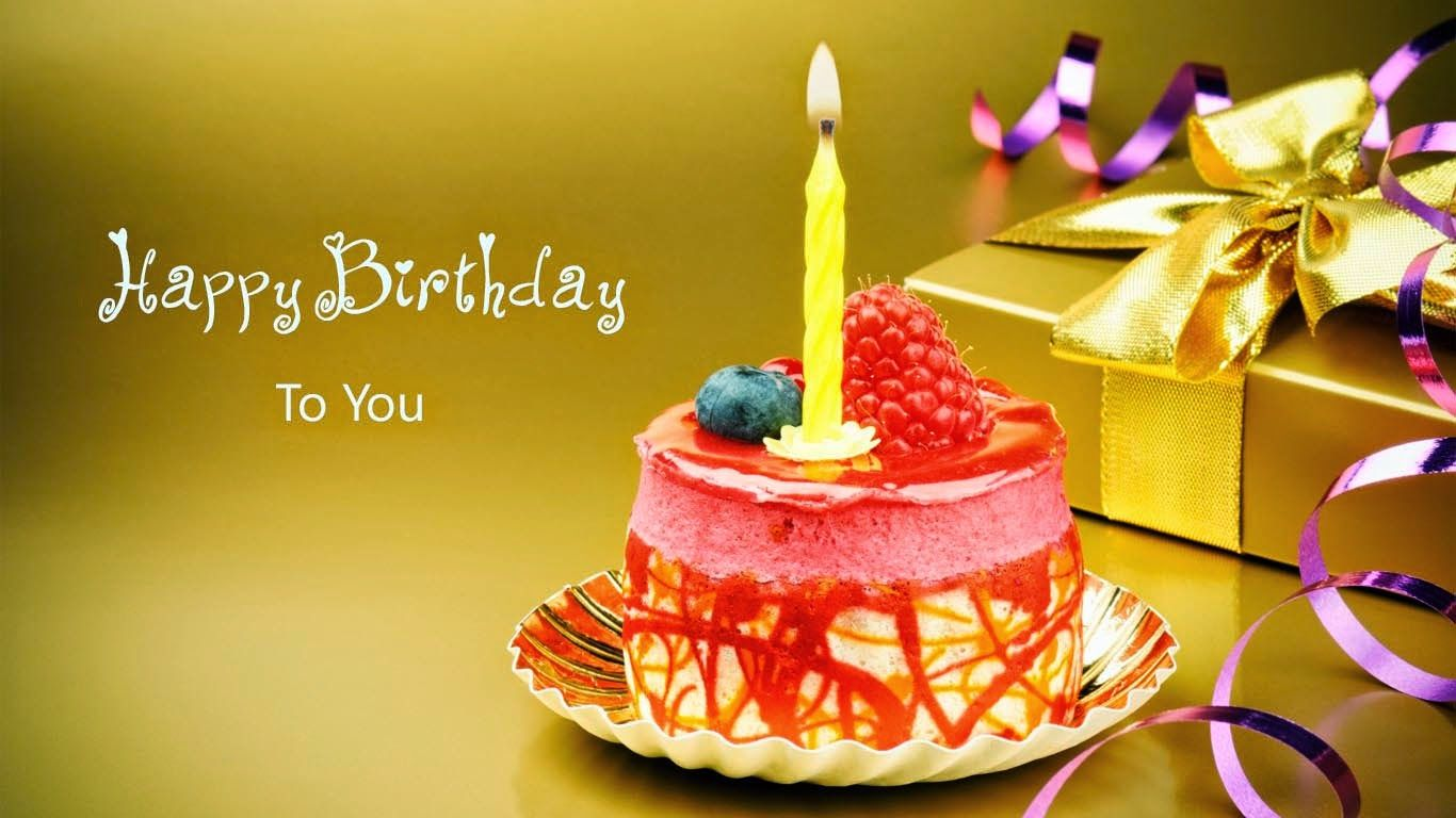 Frases Para Aniversario Cake Ideas And Designs: Happy Birthday To You Cards With Gift Cake Candle