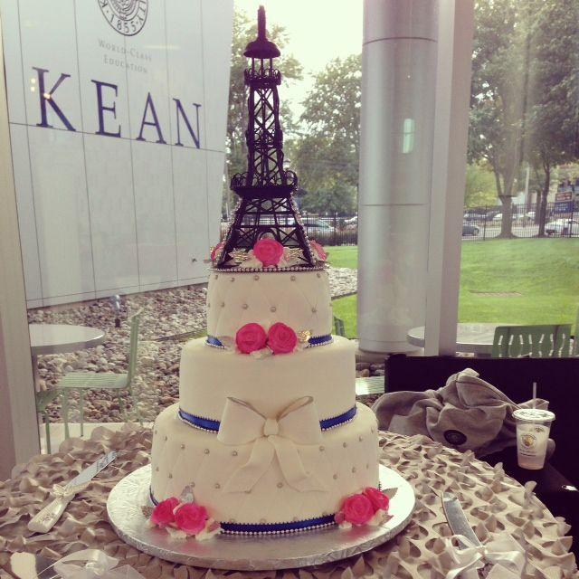 A Night In Paris Wedding Cake