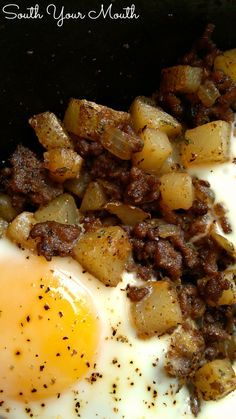 Hash Eggs Recipe Ground Beef Potatoes Ground Beef Pellet Grill Recipes