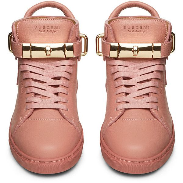 8f7a6130799 Buscemi Womens 100mm Flat Rosa Leather (4.080 BRL) ❤ liked on Polyvore  featuring shoes