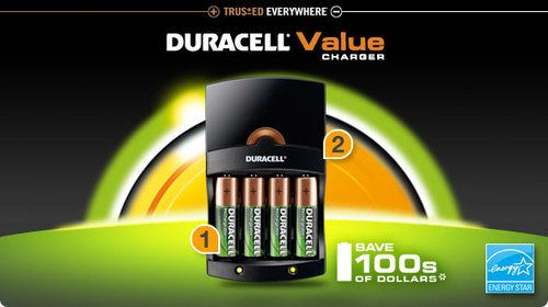Amazon Com Duracell Value Charger With 4 Aa Staycharged Batteries Duracell Charger Rechargeable Battery Charger