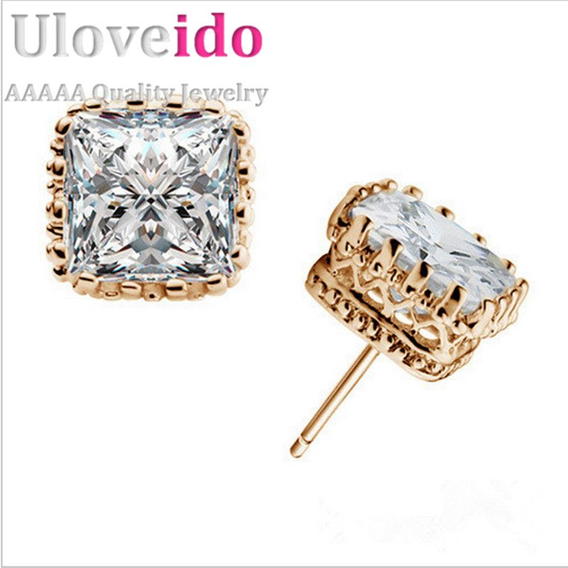 Find More Stud Earrings Information about Square Earring Women Pink Crystal Jewelry White/18k Gold Plated Earrings Flower Orecchini Donna CZ Diamond Brincos Ulove BME13,High Quality jewelry course,China jewelry animal Suppliers, Cheap jewelry magazine from ULove Fashion Jewelry Store on Aliexpress.com
