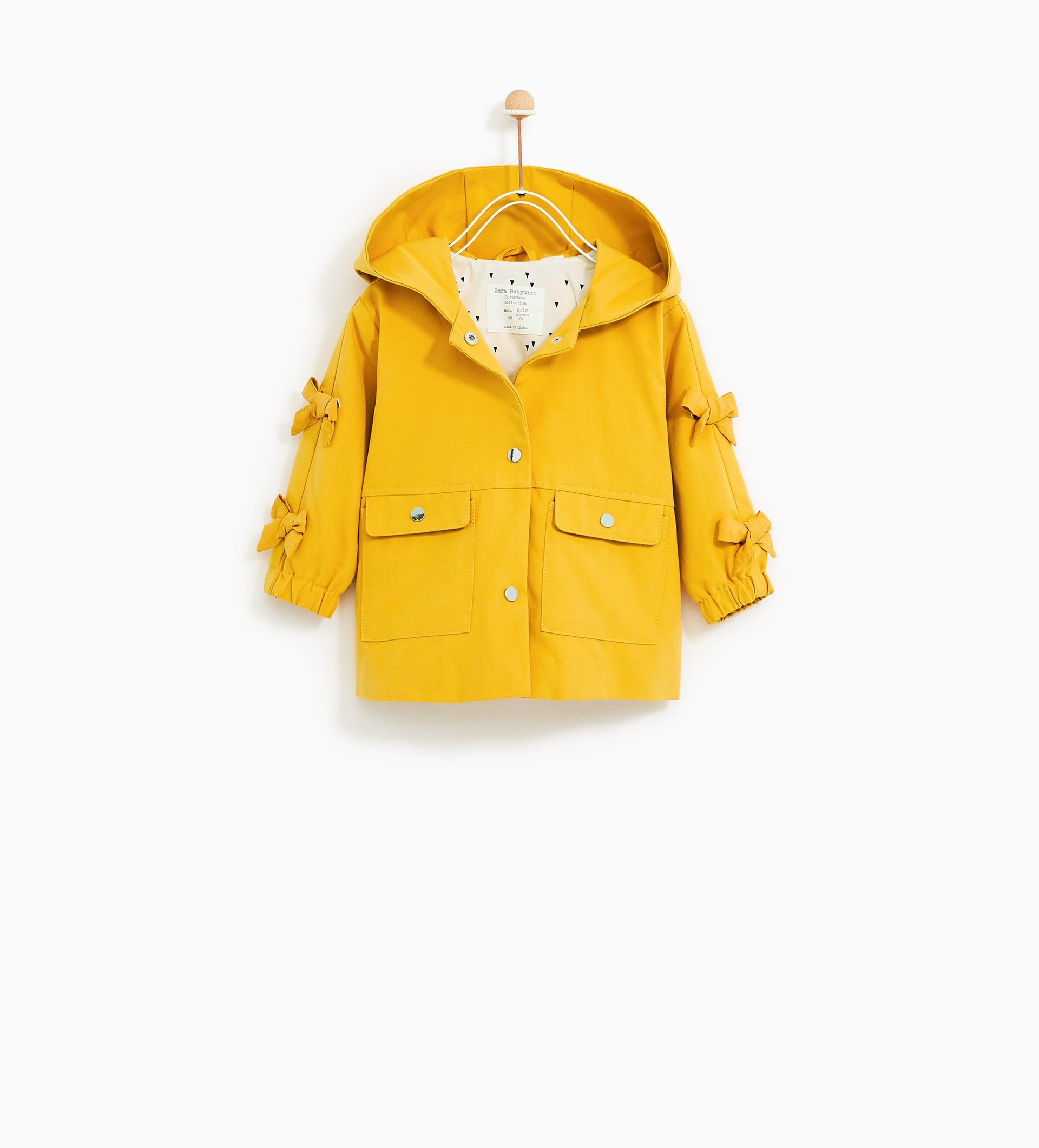 Image 1 Of Parka With Bows From Zara Kinderkleidung Baby Jacke Babymoden Madchen