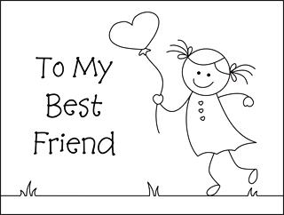 Valentine coloring cards  free printable Valentine cards for kids