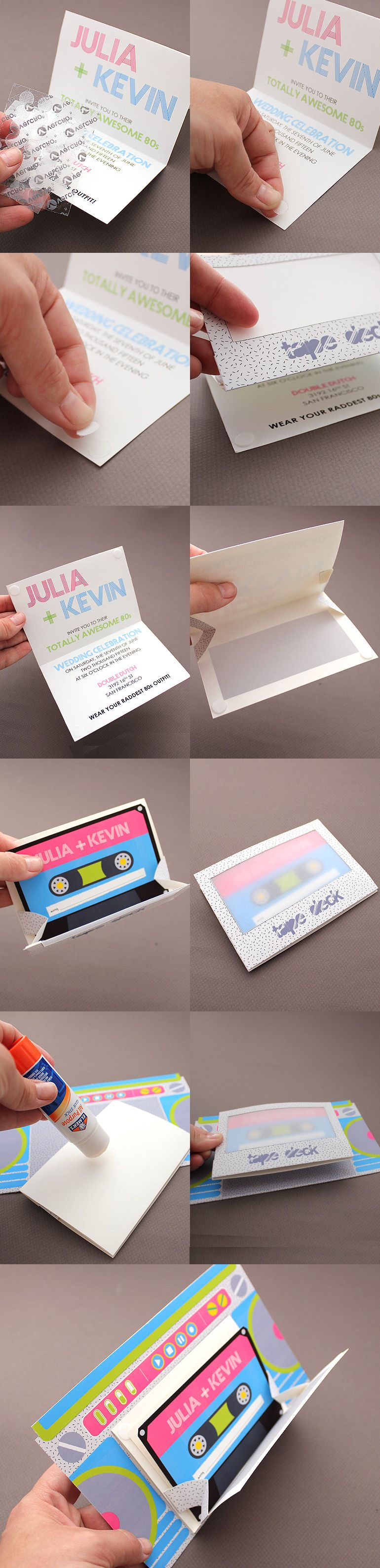DIY these Totally Awesome Boom Box wedding invitations from Download ...