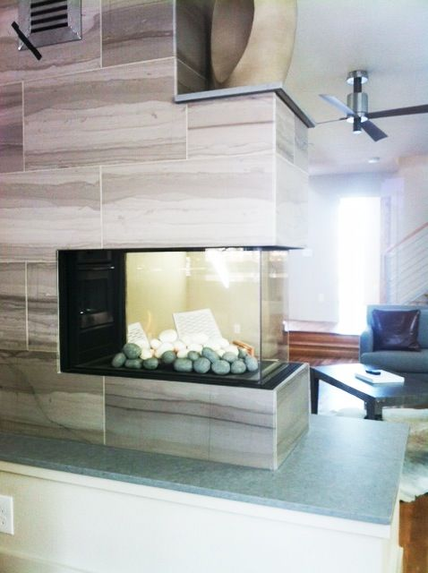 Ortal Space Creator 75 Gas Fireplace Complete Install By Gcs 2012