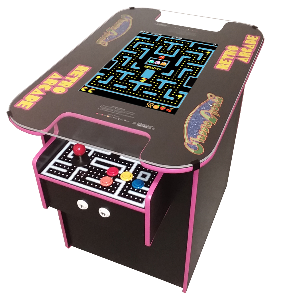 Suncoast Arcade Classic Cocktail Arcade Machine With Over 400 Games Pink Trim Commercial Grade Walmart Com Cocktail Arcade Machine Arcade Arcade Machine