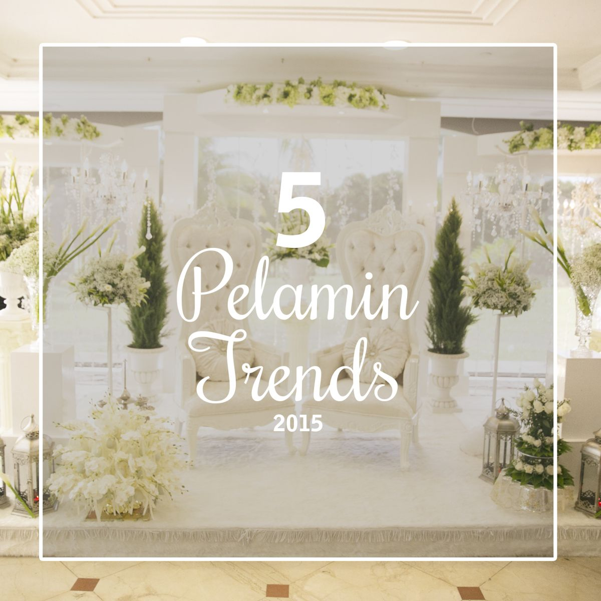From full-of-character DIY to romantic white designs, check out these emerging pelamin trends to rule the weddings of 2015 and beyond.