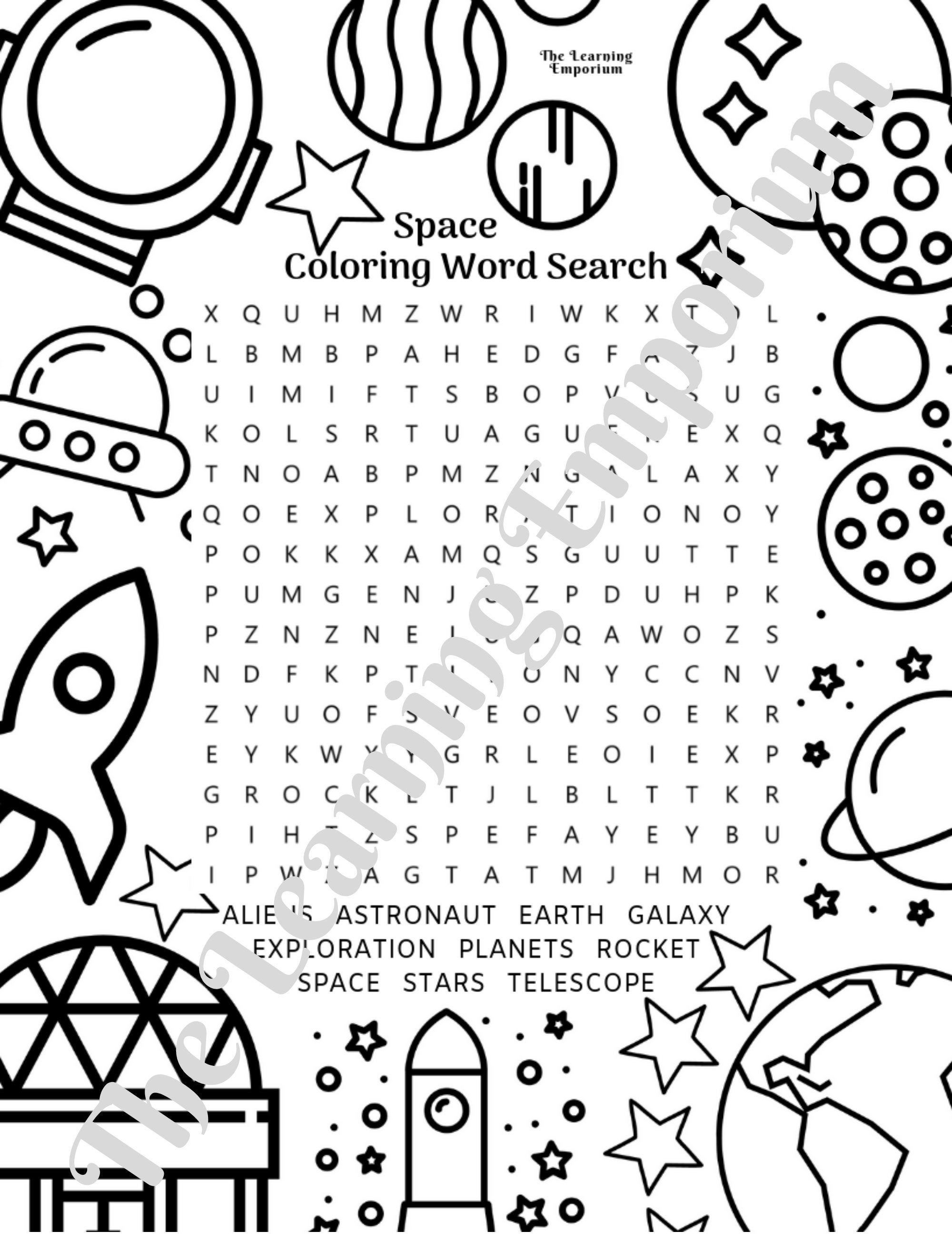 Coloring Word Search