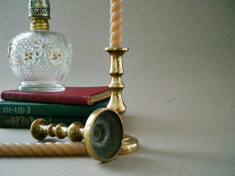 Br Candle Holders Vintage