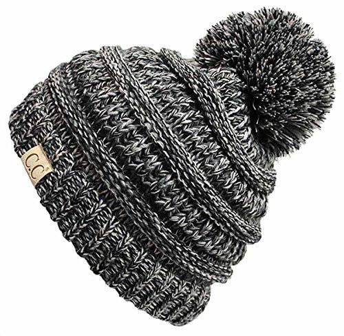Kids 4-Tone Multi Color Knit Winter Beanie Hat