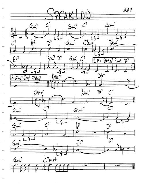 Jazz Real Book Ii Page 337 Speak Low Jazz Standard Sheet Music Jazz Standard Sheet Music Jazz Sheet Music