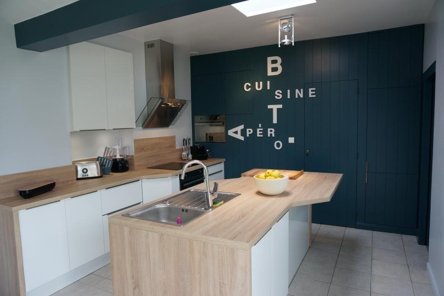 Cuisine client} Cuisine blanche ambiance bord de mer de SoCoou0027c - küchenwände neu gestalten