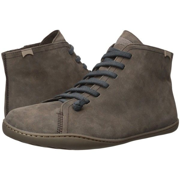 Camper Peu Cami - 36458 (Dark Brown) Men's Lace-up Boots (175 CAD) ❤ liked  on Polyvore featuring men's fashion, men's shoes, men's boots, brown, mens  side ...