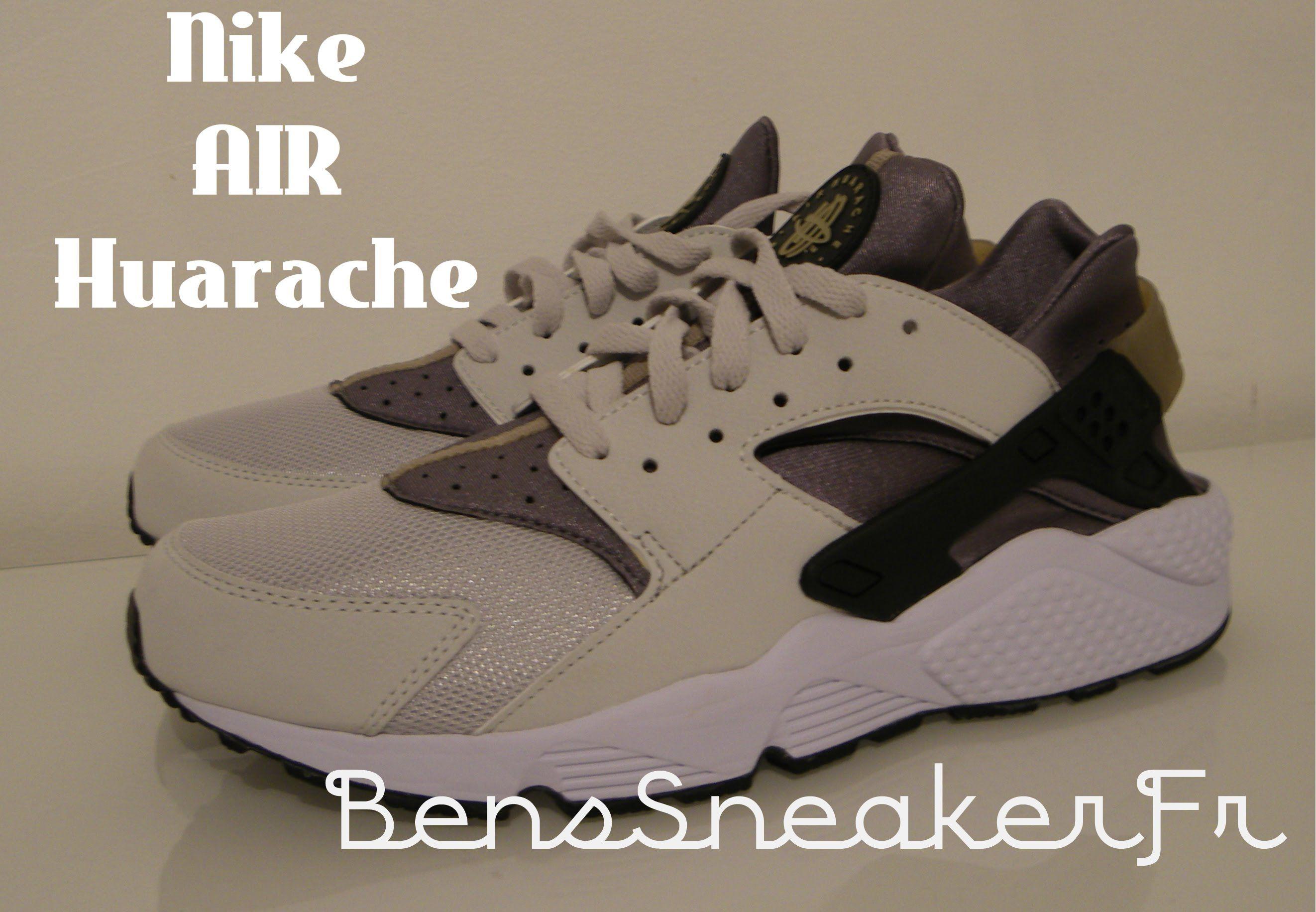 005Youtube Huarache Nike Cendregris Fraisnoir318429 Air Gris gybf76