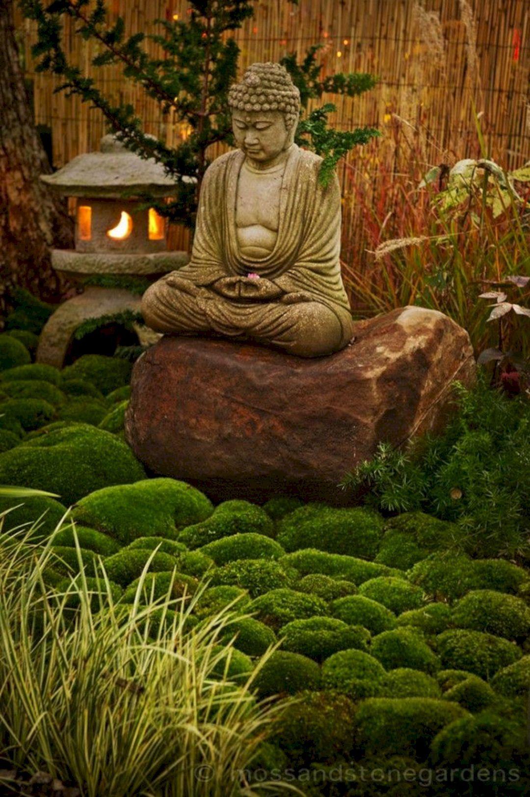 35 Awesome Buddha Garden Design Ideas For Calm Living Freshouz Com Buddha Garden Zen Garden Zen Garden Design