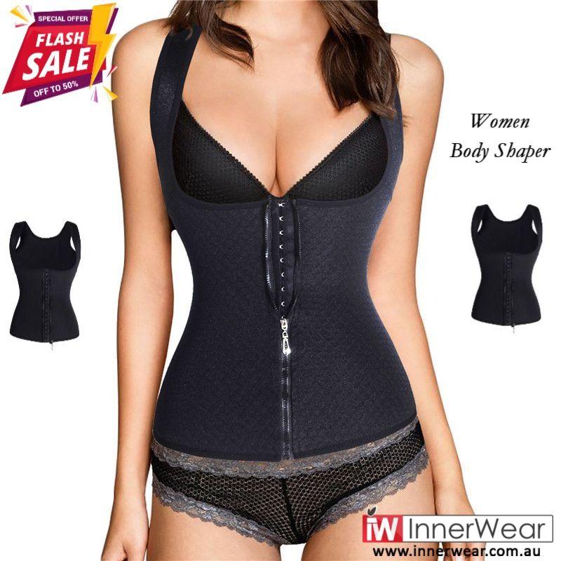 1e7bc3f215d Plus Size  Zipper Waist Trainer Vest  Women  Workout Corset  Hooks Tummy  Control  Bodyshaper  buy
