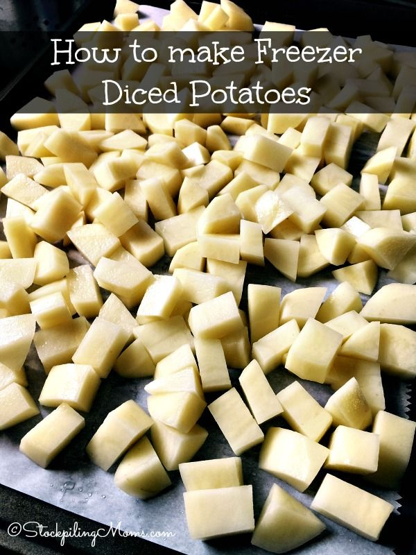 How To Make Freezer Diced Potatoes Canned
