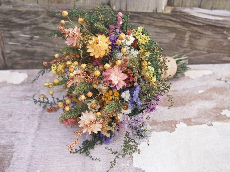 Mazzo Di Fiori Secchi.Fiori Secchi Mazzo Di Fiori Fiori Secchi Bouquet Da Sposa