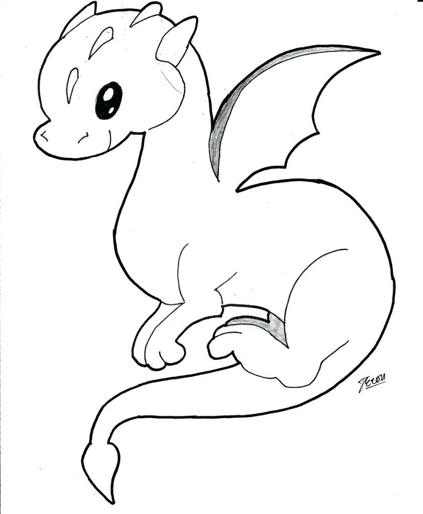 Cute Dragon Coloring Page Youngandtae Com Dragon Coloring Page Easy Dragon Drawings Cute Dragons