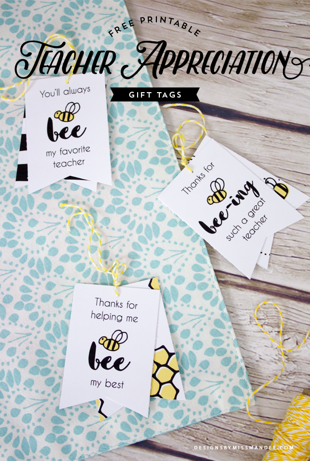 Teacher Appreciation Gift Tags | Pinterest | Geschenk für erzieherin ...