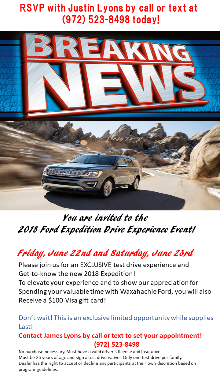 You Are Invited To The 2018 Ford Expedition Drive Experience Event