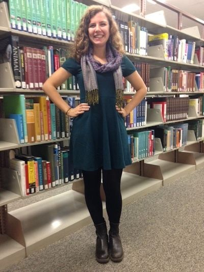 Name: Ali Milazzo Class: 2018 Major: Music, Education Hometown: Richmond, Vermont  HC: What inspired this outfit? AM: It's a new dress so I wanted to show it off.  HC: What are some of your favorite clothing stores?