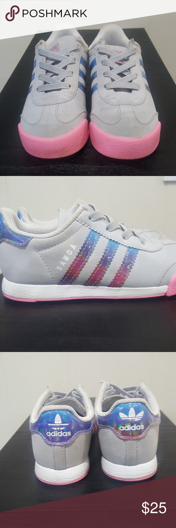 408171b22dbd0e Toddler Girl Adidas Samoa Sneakers In very good used condition. Only used  about a month. Toddler Size 9. Samoa Edition. adidas Shoes Sneakers