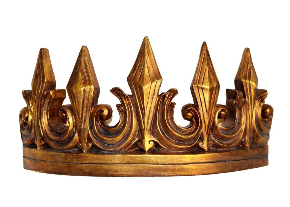 "Metal Crown Wall Decor gold ""imperial"" bed crown - bedroom teester wall decor 
