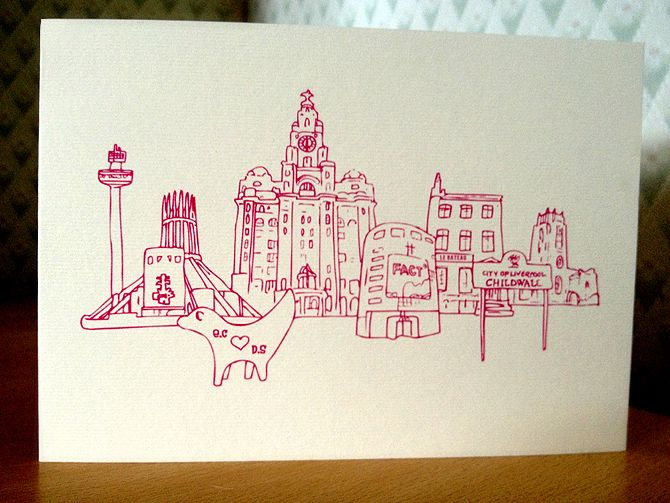 Wedding Invitations Liverpool: Wedding In Liverpool? Get Bespoke Hand Drawn Invites For A