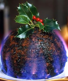Christmas Pudding On Fire.Tradition The Missing Ingredient In The Christmas Pud