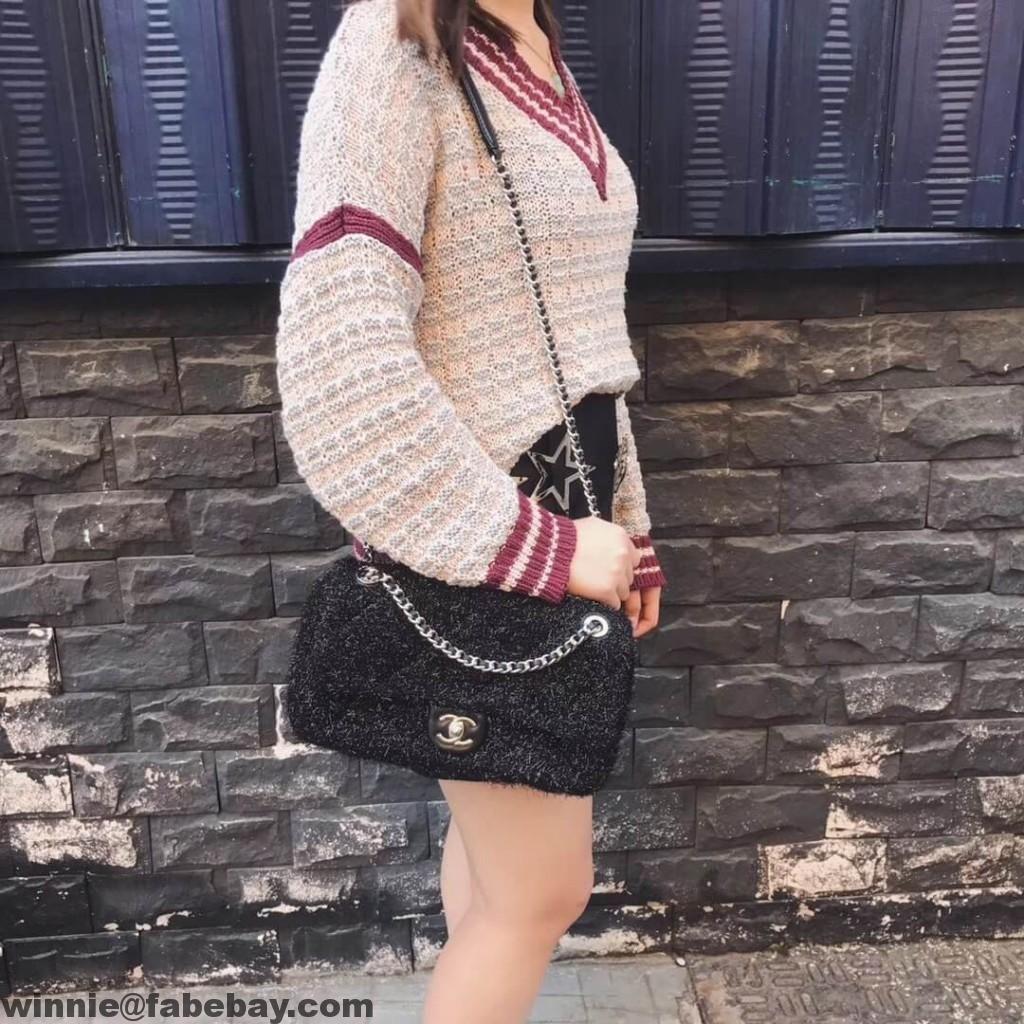 47740e6ad9d8 Chanel Knit Pluto Glitter Medium Flap Bag A91984 2017 | Chanel ...