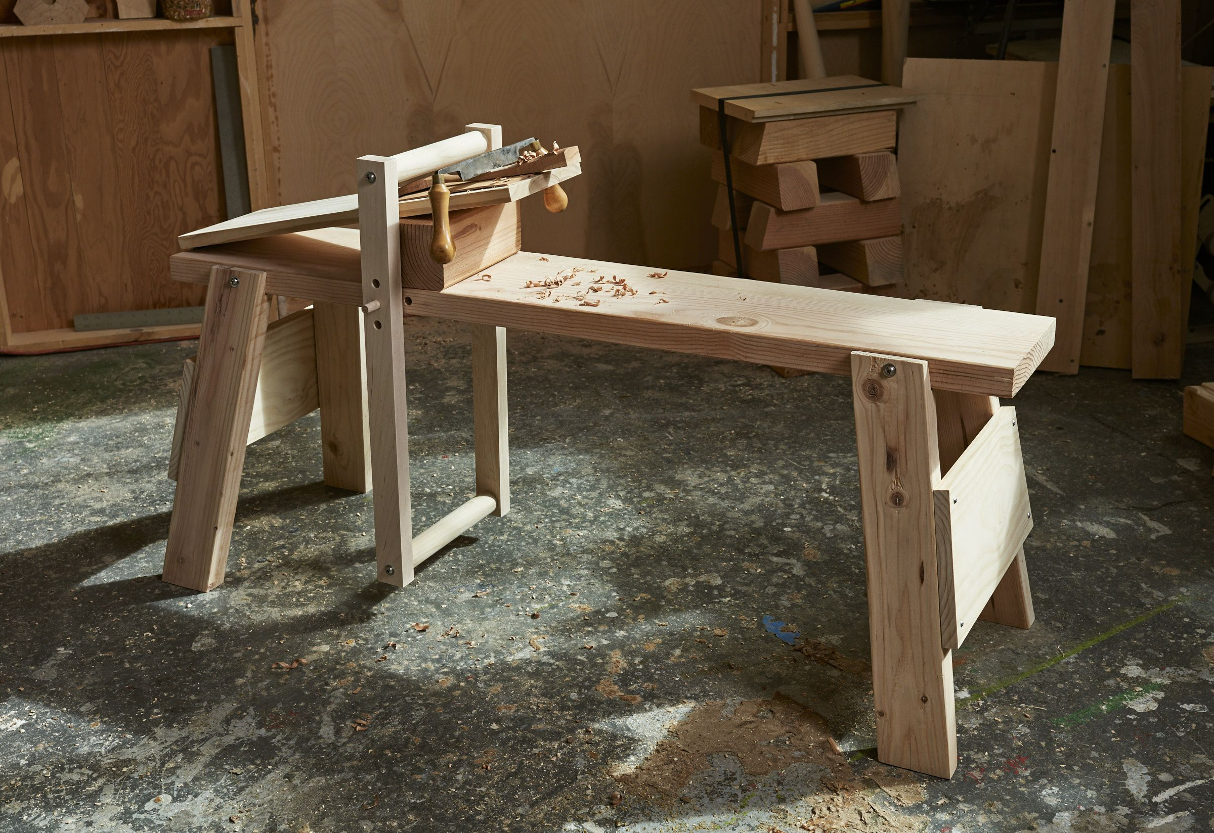 Build A Knockdown Shave Horse Popular Woodworking Woodworking