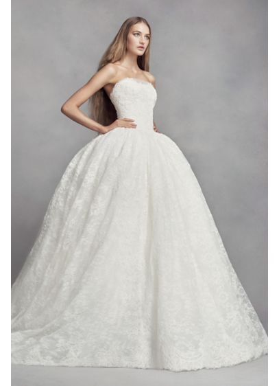 White by vera wang corded lace wedding dress style vw351372 lace white by vera wang corded lace wedding dress style vw351372 junglespirit Gallery