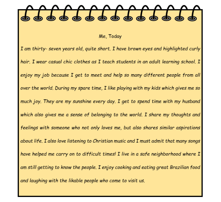 short descriptive paragraph about a friend