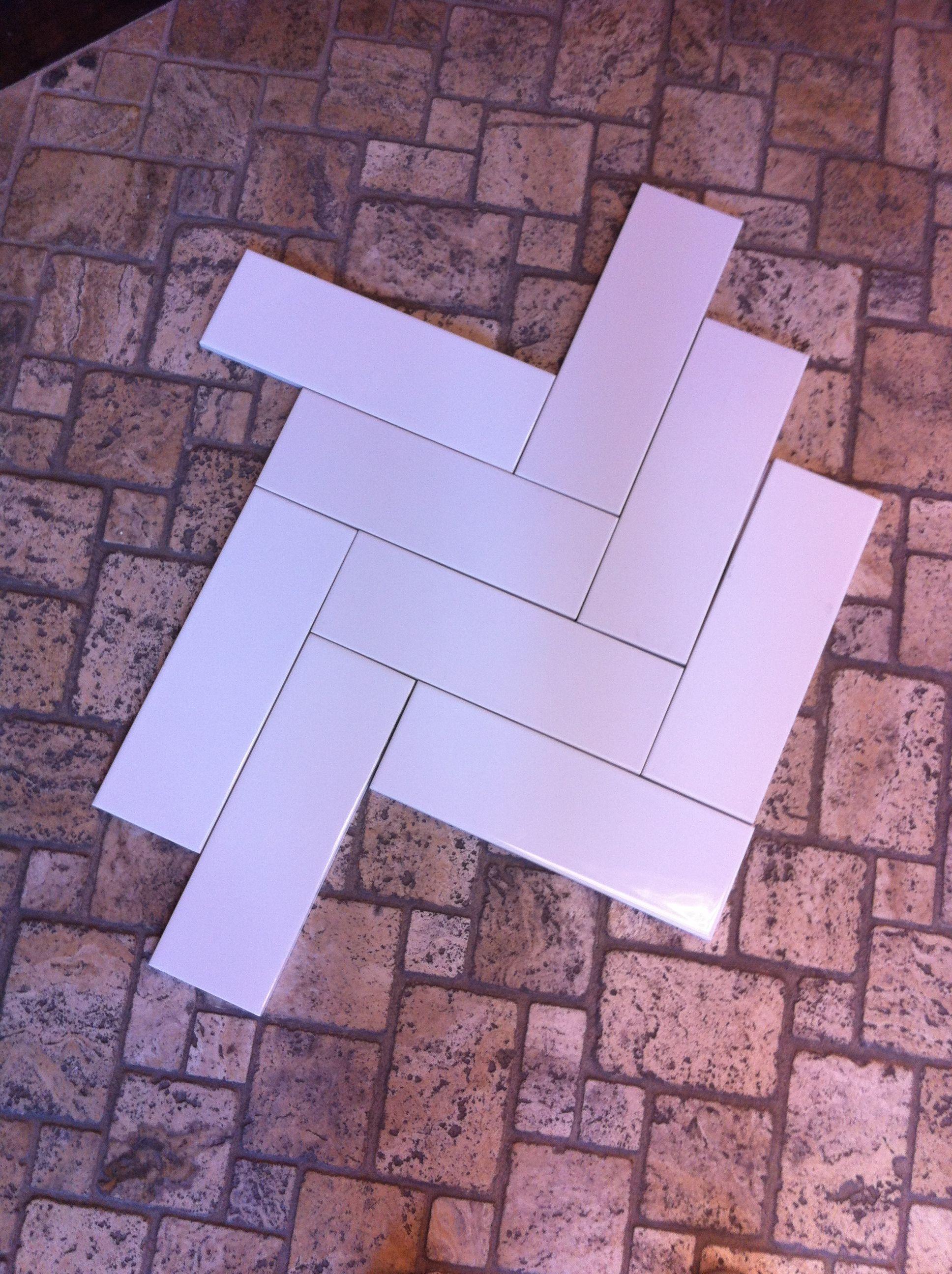 Herringbone Tile Pattern 4x12