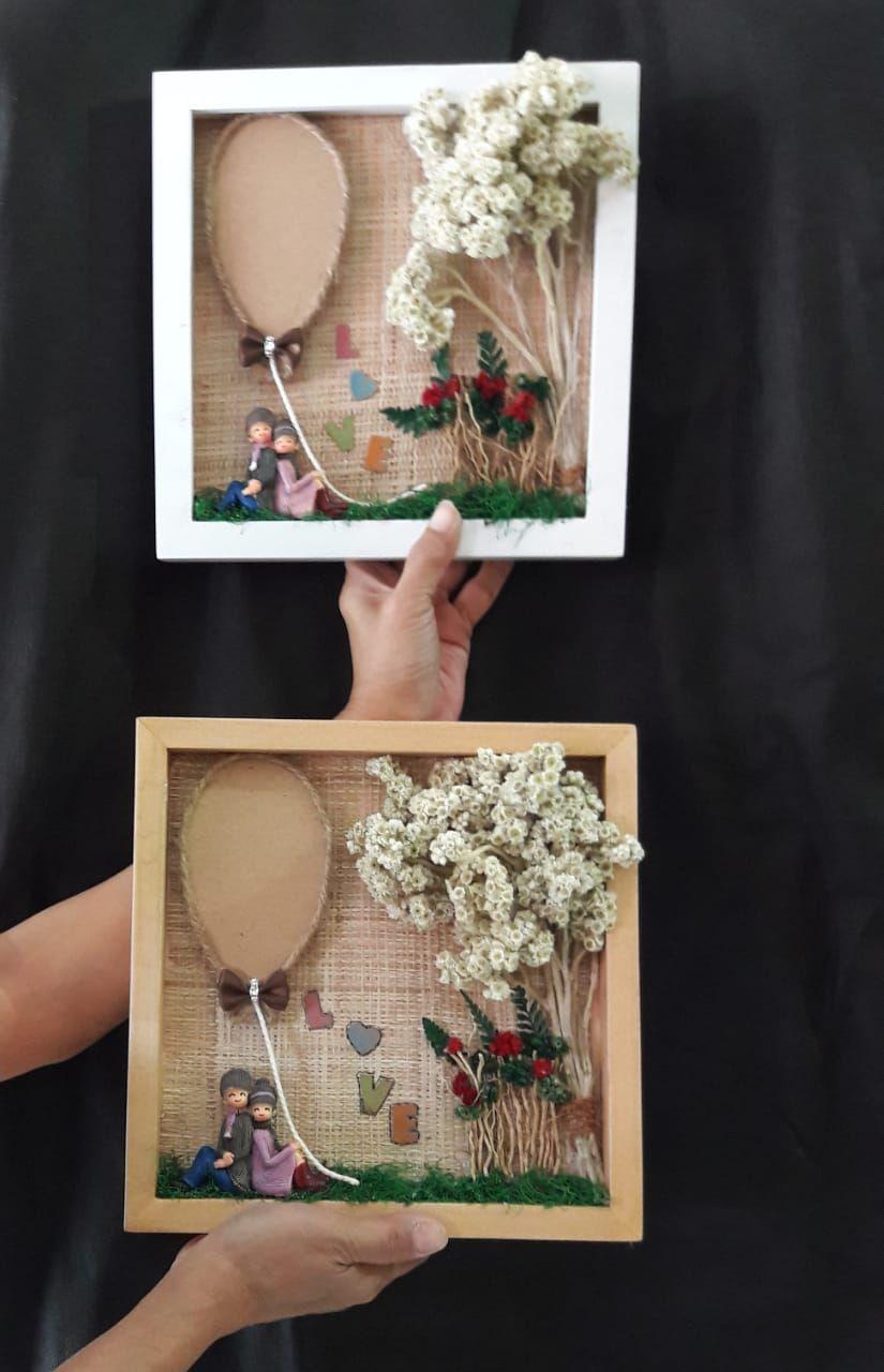 Bunga Edelweis Couple In 3d Frame Bunga Bingkai Pernikahan