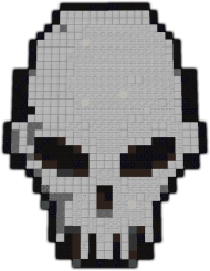 Skull Pixel Art Minecraft Skull Pixel Art Small Png Image With Transparent Background Png Free Png Images Pixel Art Minecraft Pixel Art Minecraft Skull