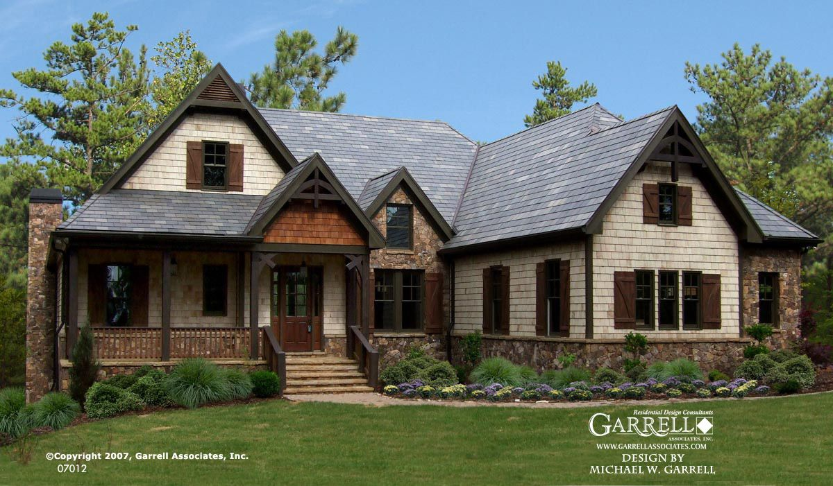Garrell associates inc big mountain lodge house plan for Large ranch house plans