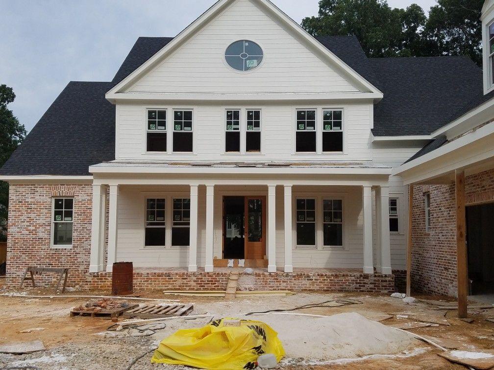 Brick And Siding Combination Homes Garage Doors Home Decor Outdoor Decor