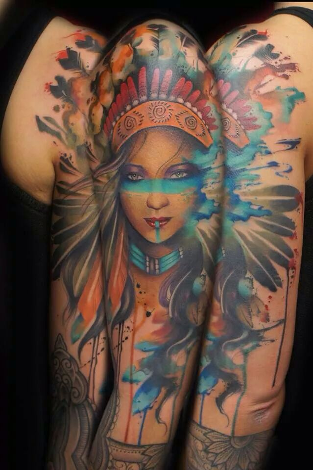 Indian Tattoo Native American Tattoos Tattoos Native Girls