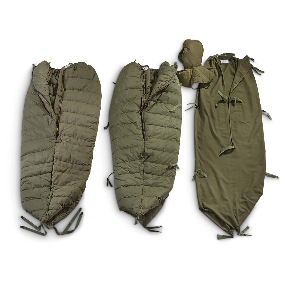 U S Military Surplus Ecw Sleeping Bag Used 637616 Bags At Sportsman Guide