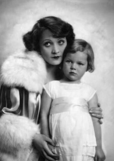 Marlene Dietrich with her daughter Maria Sieber Riva