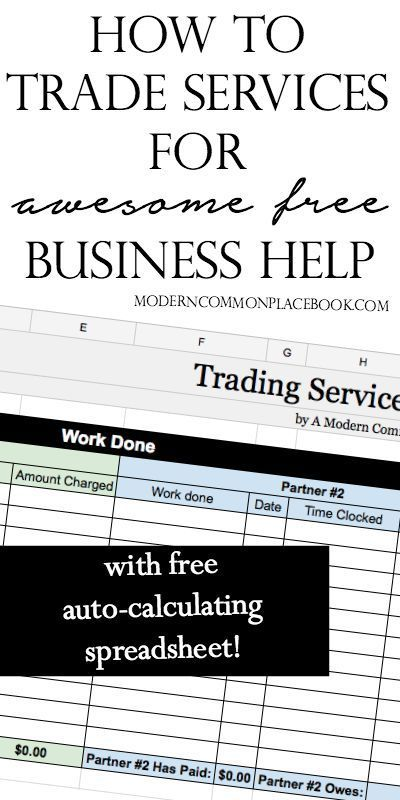 How to trade services for free business advice Commonplace book