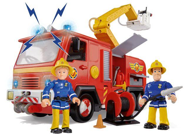 Camión Júpiter Con Dos Figuras Y Accesorios De Sam El Bombero Fireman Sam Fireman Fire Trucks