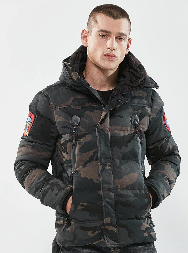 Military Tactical Camouflage Jacket Jacket Us Army Navy Thermal Outwear Thick Padded Jacket With Hoo Military Fashion Camouflage Jacket Men S Coats And Jackets [ 1062 x 790 Pixel ]