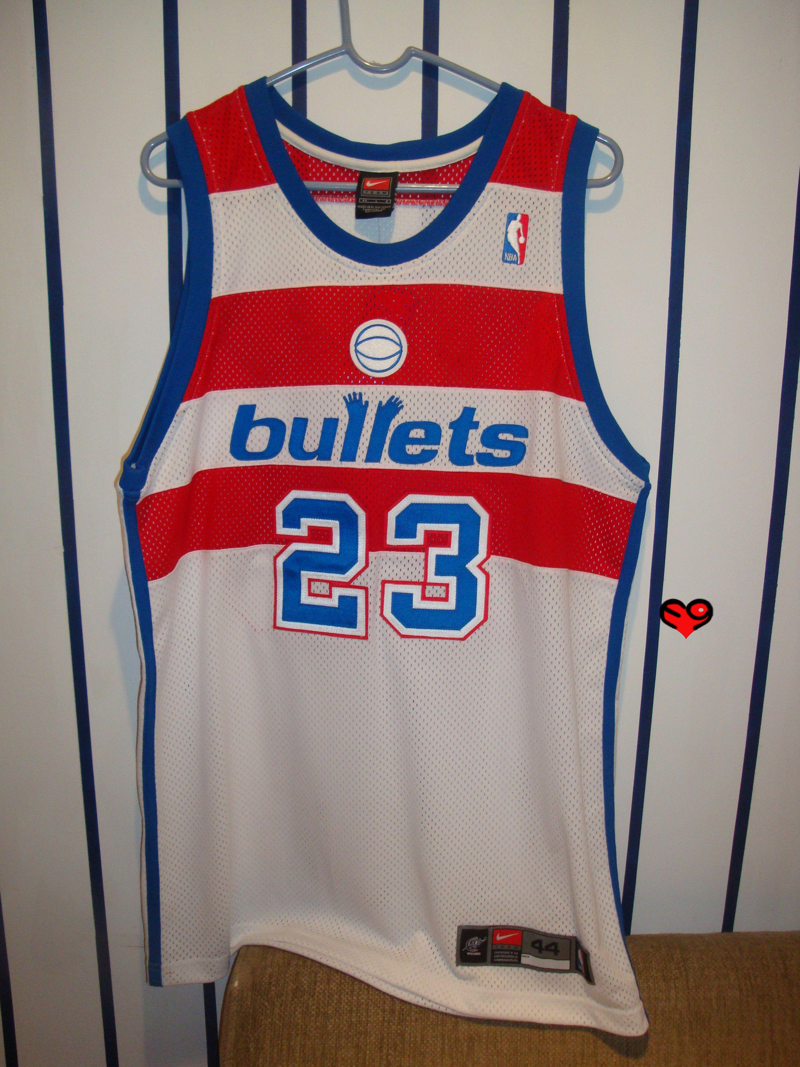 wholesale dealer 7c69b 51590 Jordan Nike Bullets Authentic Jersey (front) | Michael ...