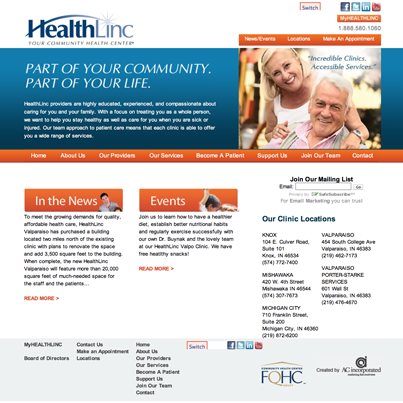 2013 - Our new website is LIVE!!!  www.HealthLincCHC.org