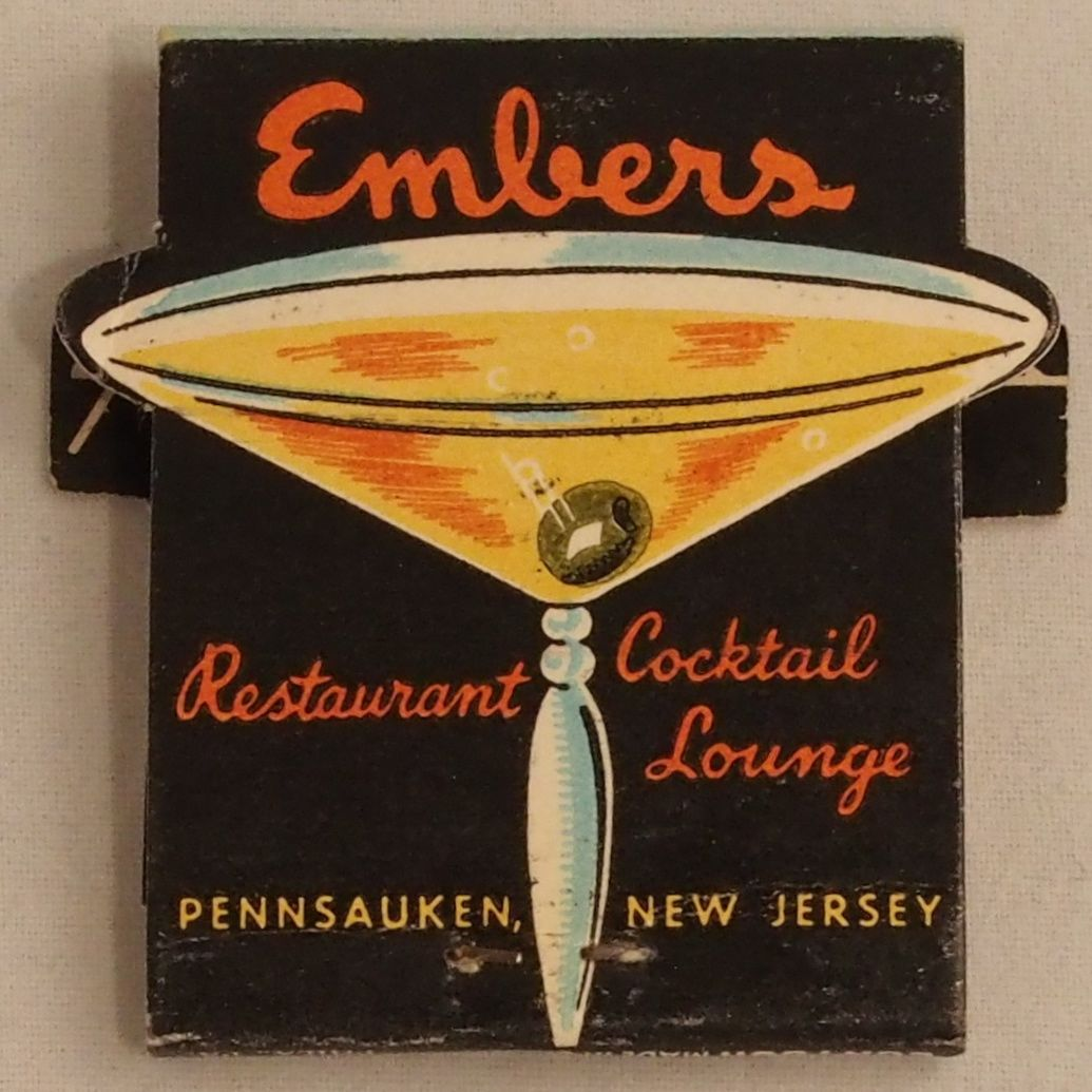 Embers Restaurant and Lounge #frontStriker #Feature #contour 18 stem #matchbook #newjersey To Order your Business' Own Branded #Matchbooks or #Matchboxes GoTo: www.GetMatches.com or CALL 800.605.7331 TODAY!