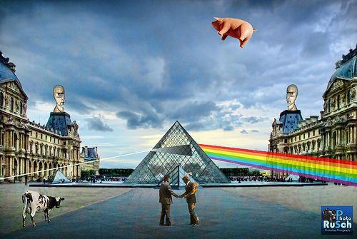 Pink Floyd Pyramid at Louvre Museum Paris France | Flickr: Intercambio de fotos